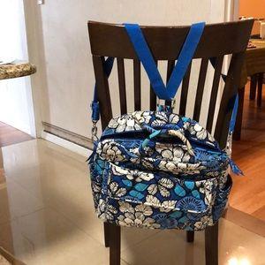 VeraBradley Convertible Baby Bag shoulder/backpack